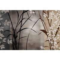Edward Aparicio 'Silver Whispers ll' 36 x 24 Gallery Wrap Canvas