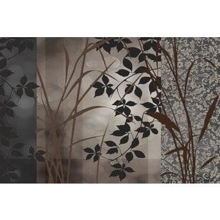Edward Aparicio 'Silver Whispers l' 36 x 24 Gallery Wrap Canvas