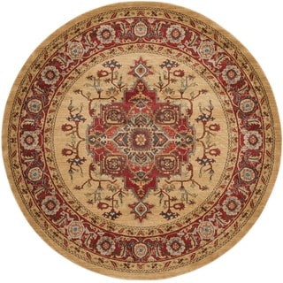 Safavieh Mahal Traditional Grandeur Red/ Natural Rug (6'7 Round)