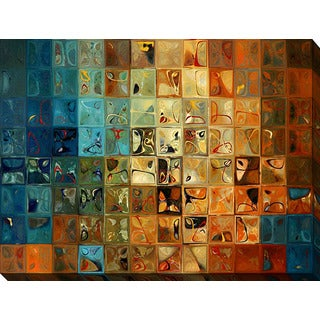 Mark Lawrence 'Modern Tile Art #11 2009' Giclee Print Canvas Wall Art