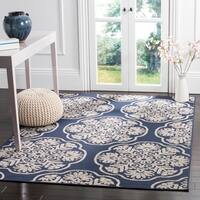 Safavieh Cottage Navy/ Cream Rug - 8' x 11'2