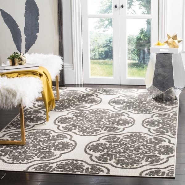 Safavieh Cottage Cream/ Grey Rug - 8' x 11'2