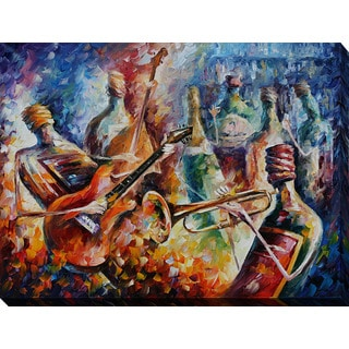 Leonid Afremov 'Bottle Jazz-2' Giclee Print Canvas Wall Art
