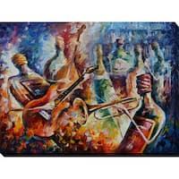 Leonid Afremov 'Bottle Jazz-2' Giclee Print Canvas Wall Art