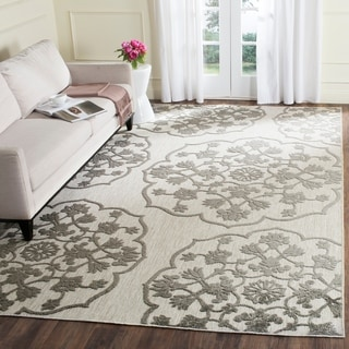 Safavieh Cottage Cream/ Grey Rug (8' x 11'2)