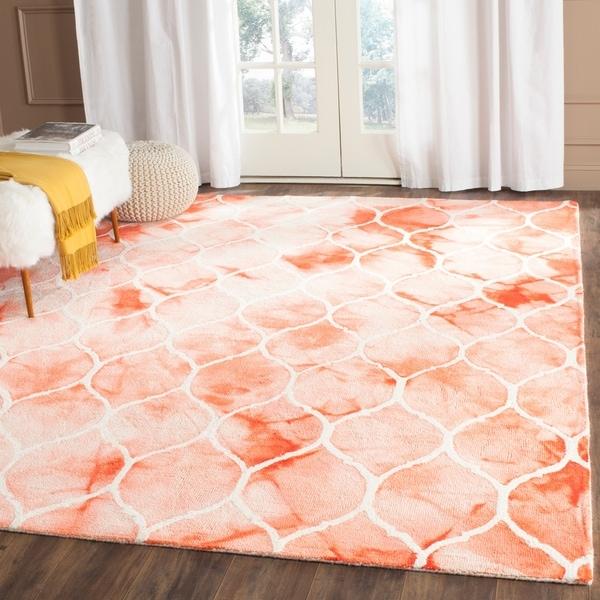 Area Rug 8x10 Orange: Shop Safavieh Handmade Dip Dye Watercolor Vintage Orange
