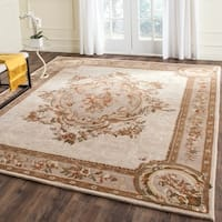 Safavieh Hand-Tufted Empire Ivory/ Light Grey Wool Rug - 7'6 x 9'6