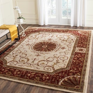 Safavieh Handmade Empire Ivory/ Red Wool Rug (7'6 x 9'6)