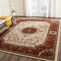 Safavieh Handmade Empire Ivory/ Red Wool Rug - 7'6 x 9'6