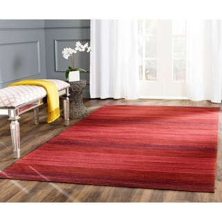 Safavieh Hand-woven Marbella Red Wool Rug (5' x 8')