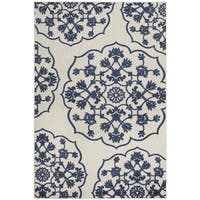 Safavieh Cottage Cream/ Royal Rug - 4' x 6'