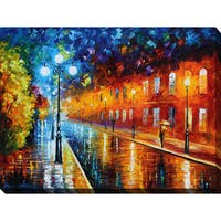 Leonid Afremov 'Blue Lights' Giclee Print Canvas Wall Art