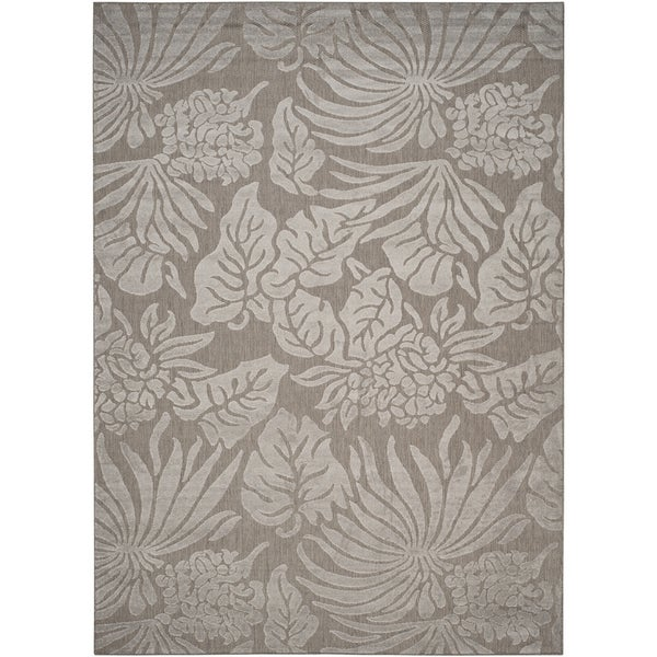 Safavieh Monroe Grey Indoor/ Outdoor Botanical Rug - 8' x 11'2