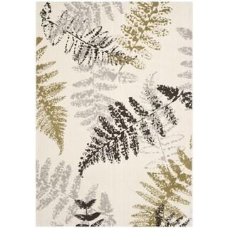 Safavieh Porcello Fern Print Ivory/ Light Grey Rug (4' x 5'7)