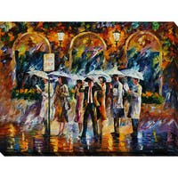 Leonid Afremov 'Bus Stop' Giclee Print Canvas Wall Art