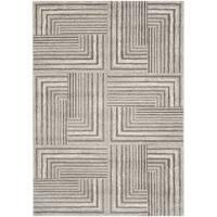 Safavieh Porcello Modern Geometric Light Grey/ Dark Grey Rug - 4' x 5'7