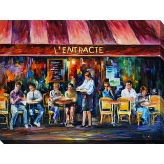 Leonid Afremov 'Cafe In Paris III' Giclee Print Canvas Wall Art