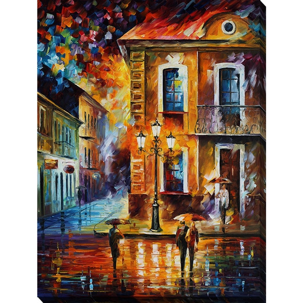Leonid Afremov 'Charming Night' Giclee Print Canvas Wall Art