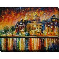 Leonid Afremov 'Copenhagen' Giclee Print Canvas Wall Art