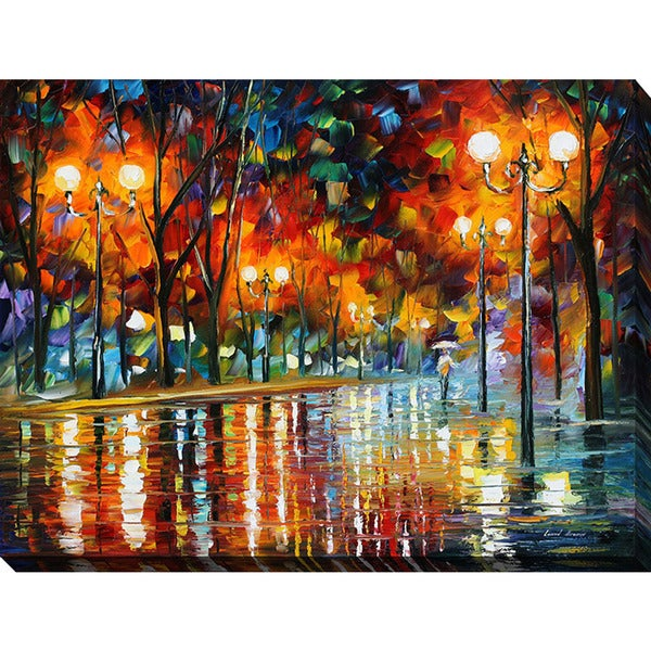 Leonid Afremov 'Did She Leave' Giclee Print Canvas Wall Art