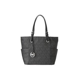 Michael Kors Signature Black Logo/Silver Tote Bag