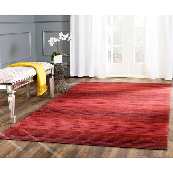 Safavieh Hand-woven Marbella Red Wool Rug - 8' x 10'