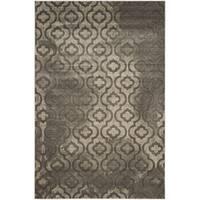 Safavieh Porcello Contemporary Moroccan Grey/ Dark Grey Rug - 5'2 x 7'6