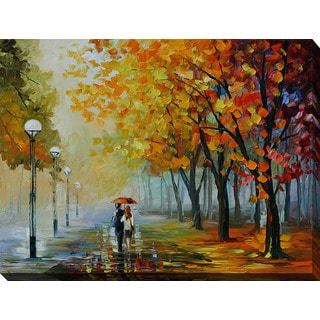 Leonid Afremov 'Fall Drizzle' Giclee Print Canvas Wall Art