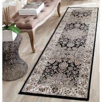 Safavieh Persian Garden Black/ Ivory Viscose Rug - 8' x 11'