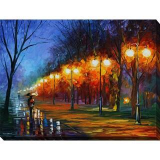Leonid Afremov 'Fall,Rain, Alley...' Giclee Print Canvas Wall Art