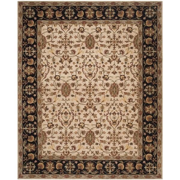 Safavieh Hand-Tufted Stratford Beige/ Black N.Z. Wool Rug - 8' x 10'