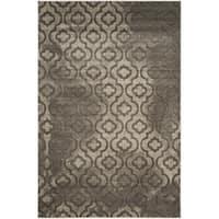 Safavieh Porcello Contemporary Moroccan Grey/ Dark Grey Rug - 4'1 x 6'