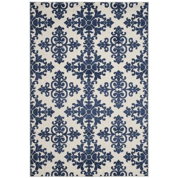 Safavieh Cottage Cream/ Royal Rug - 6'7 x 9'6