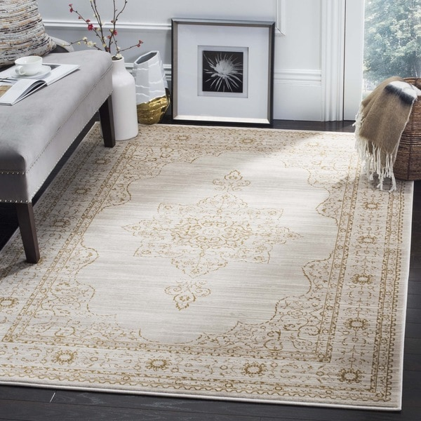 Shop Safavieh Serenity Cream Gold Rug 8 X 10 On