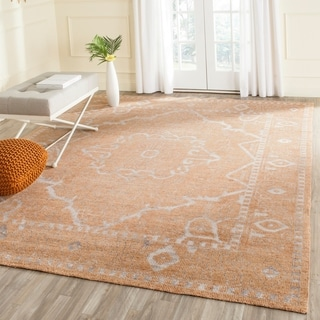 Safavieh Hand-knotted Stone Wash Brown/ Silver Wool Rug (8' x 10')