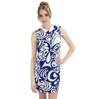 Relished Women's 'Leia' Sleeveless Blue Hawaiian Shift Dress