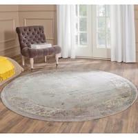 Safavieh Vintage Oriental Grey Distressed Silky Viscose Rug - 6' Round