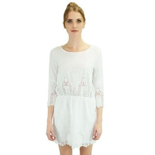 Relished Women's 'Ashley' White Dress https://ak1.ostkcdn.com/images/products/10268118/P17384888.jpg?impolicy=medium