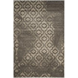 Safavieh Porcello Contemporary Geometric Grey/ Dark Grey Rug (8'2 x 11')