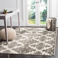 Safavieh Cottage Indoor Outdoor Cream/ Grey Rug - 6'7 x 9'6