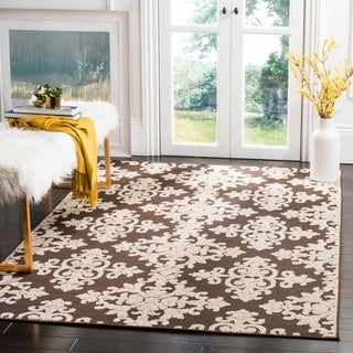 Safavieh Cottage Brown/ Cream Rug (6'7 x 9'6)