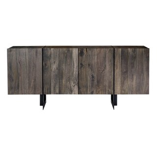 Aurelle Home Carin Reclaimed Rustic Wood Large Sideboard