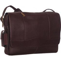 David King Leather Cafe 3/4 Flap Messenger Bag