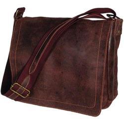 David King Leather Distressed Cafe North/South Messenger Bag