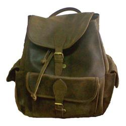David King Leather Cafe Backpack w/ Flapper Pockets