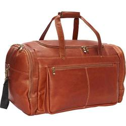David King Leather Tan Extra Large Promotional Duffel Bag
