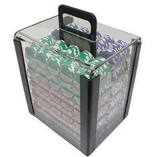 Clear 1000-pc Poker Chip Capacity Carrier