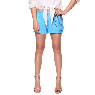 Da Nang Women Shorts Casual Pants Studded Floral Pattern