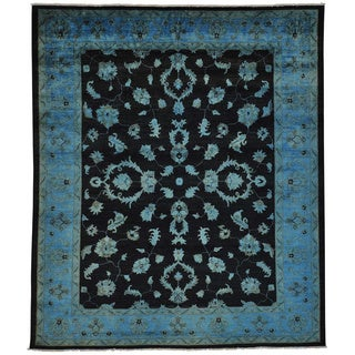Hand-knotted Overdyed Sultanabad Oriental Rug (8'1 x 9'6)