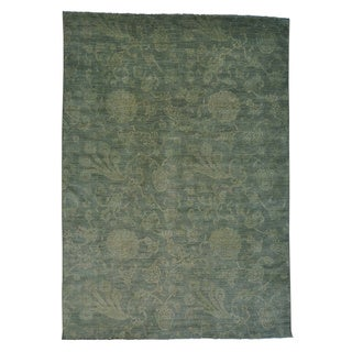 Hand-knotted Overdyed Peshawar Oriental Rug (10' x 14')